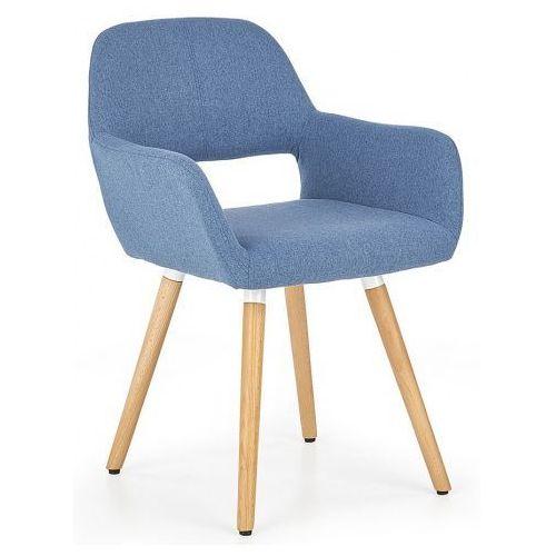 Krzesło tapicerowane odeon - niebieskie marki Elior.pl