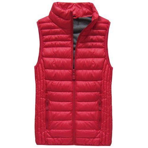 PIKOWANY BEZRĘKAWNIK CZERWONY (B2608-30) - czerwony, kolor czerwony