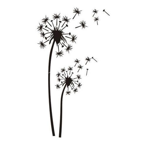 Naklejka Dmuchawiec 69 x 120 cm ciemnobrązowa