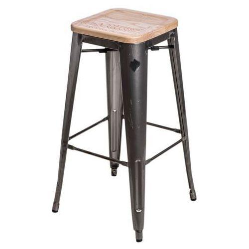 D2.design Hoker paris wood 75cm jesion - metaliczny (5902385710442)