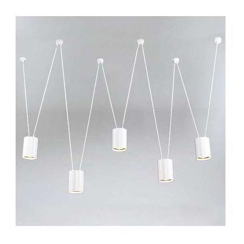 LAMPA wisząca VIWIN 9023/GU10/BI Shilo modernistyczna OPRAWA metalowy zwis tuby białe, 9023/GU10/BI