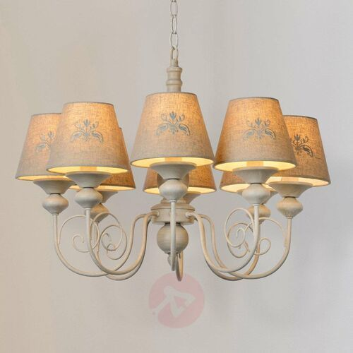 Lucide Robin 34339/08/41 Lampa wisząca zwis 8x40W E14 szary/biały (5411212343376)