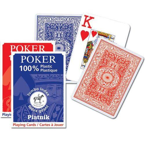 """Karty plastikowe CLASSIC PIATNIK """"L"""" /czerwony rewers/, K-1361-R"""