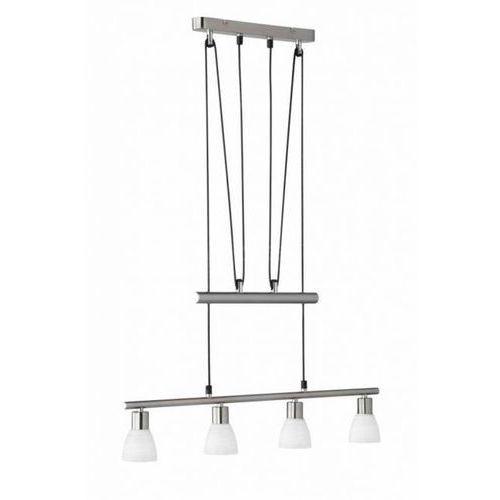 Trio carico lampa wisząca led nikiel matowy, 4-punktowe - dworek/vintage - obszar wewnętrzny - carico - czas dostawy: od 3-6 dni roboczych