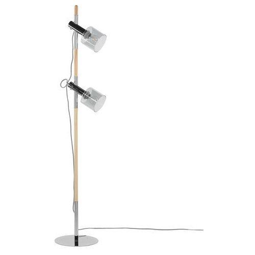 Lampa stojąca przydymione szkło szara 130 cm OWENS, kolor Jasne