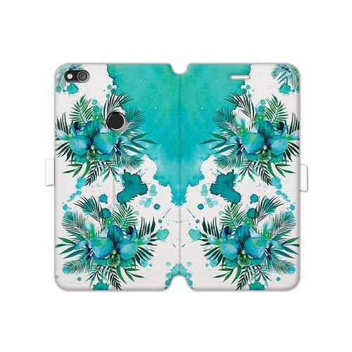 Huawei P8 Lite (2017) - etui na telefon Wallet Book Fantastic - turkusowa orchidea