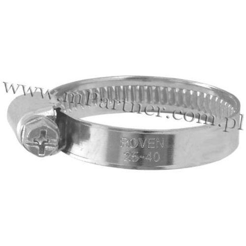 Obejma opaska zaciskowa ślimakowa skręcana 25-40mm
