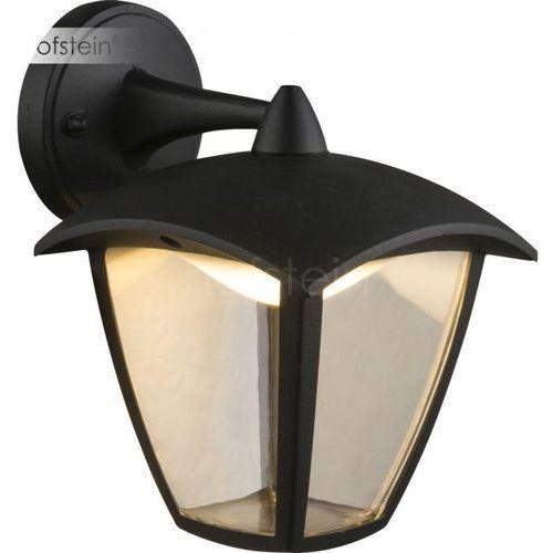 Globo Delio Zewnętrzny kinkiet LED Czarny, 1-punktowy - Dworek - Obszar zewnętrzny - Delio - Czas dostawy: od 6-10 dni roboczych (9007371350902)