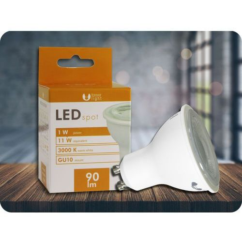 GU10 LED ŻARÓWKA 1W, 40° + Bezpłatna natychmiastowa gwarancja wymiany! Ciepła biała 3000K