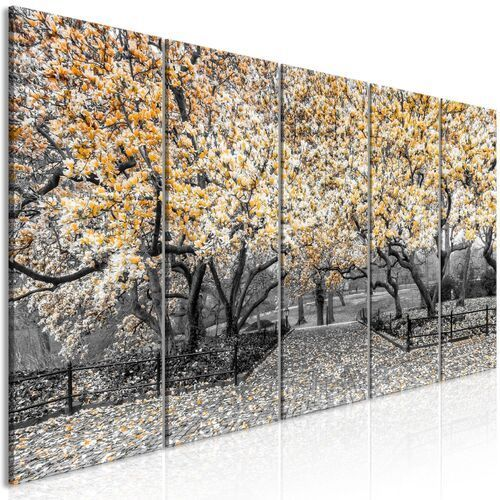 Obraz - park magnolii (5-częściowy) wąski pomarańczowy marki Artgeist