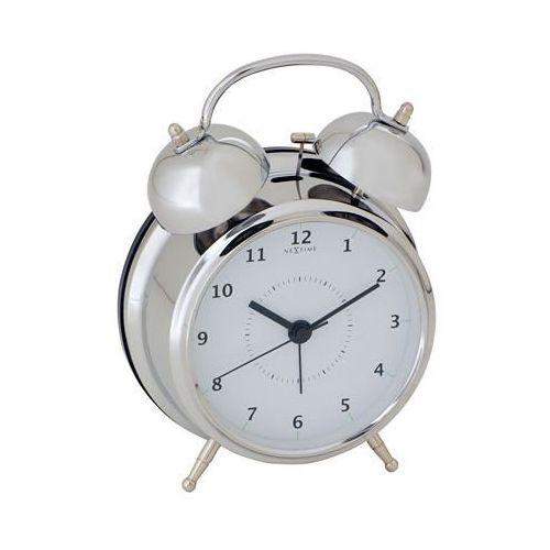 Budzik wake up 15 cm, srebrny (5112 zi) marki Nextime