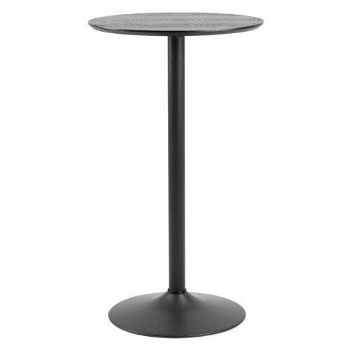 Okrągły czarny stolik barowy - Craftes, H000019791
