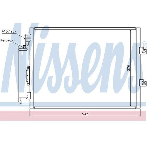 Skraplacz, klimatyzacja NISSENS 940126, 940126