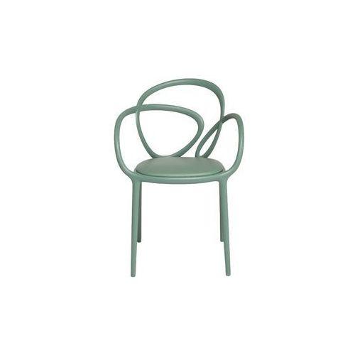 Qeeboo krzesło loop z poduszką zielone - 2 szt. 30002ge, kolor zielony