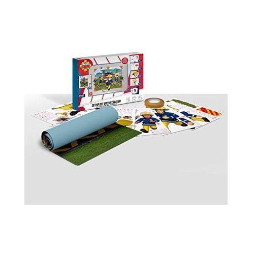 Naklejki ścienne 3D WALLTASTIC 44609 Strażak Sam 121,92x152,4cm (5060107044609)