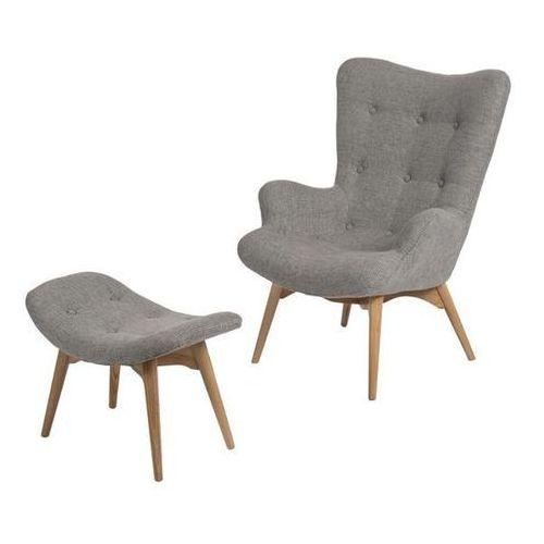 Fotel z podnóżkiem Contour (szary) D2 (5902385700863)