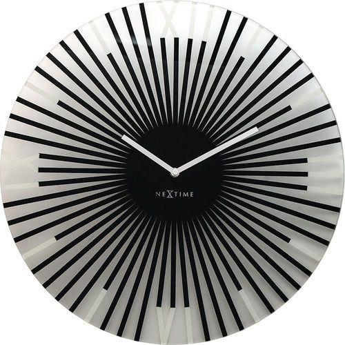 Zegar ścienny Sticks Nextime 43 cm, czarny (8175 ZW)