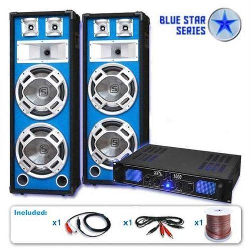 "Electronic-Star System glosników PA 2600 Watt Seria Blue Star ""Bass Core"" DJ"