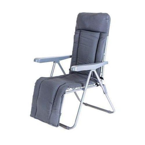 Happy Green krzesło ogrodowe składane MANILLA 74 x 57 x 106 cm, z oparciem na nogi, antracyt (8591022468388)