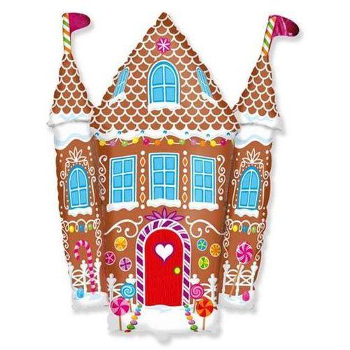 Twojestroje.pl Balon foliowy zamek z piernika 24'' 1szt (8435102302431)