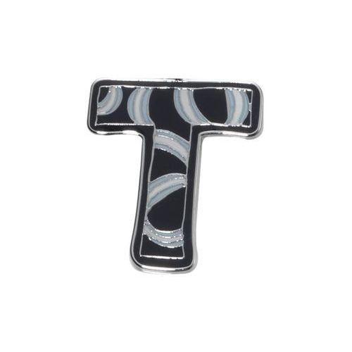 """Chromowany brelok do kluczy Literki """" T """" Troika - T"""