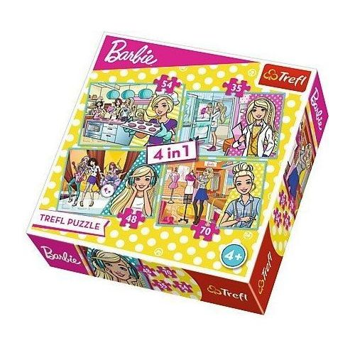 Puzzle 4w1 barbie, kariera - darmowa dostawa od 199 zł!!! marki Trefl