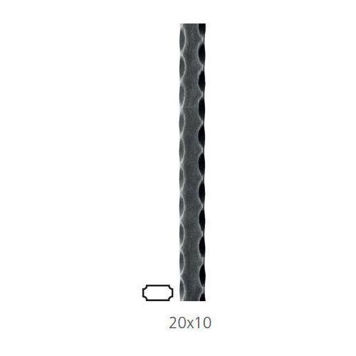 30.202 Płaskownik fakturowany 20x10 H3000