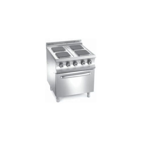 Mbm Kuchnia elektryczna 4 płytowa z piekarnikiem el. gn 2/1 | 15700w