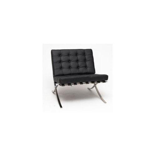 Fotel BA1 z podnóżkiem skóra (czarny) D2 (5902385723503)