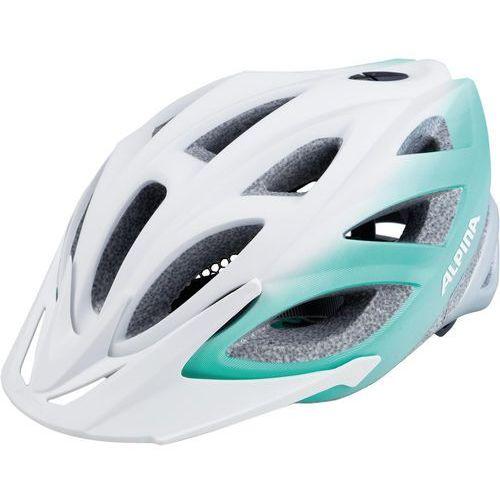 seheos l.e. kask rowerowy biały/turkusowy 51-56cm 2018 kaski rowerowe marki Alpina