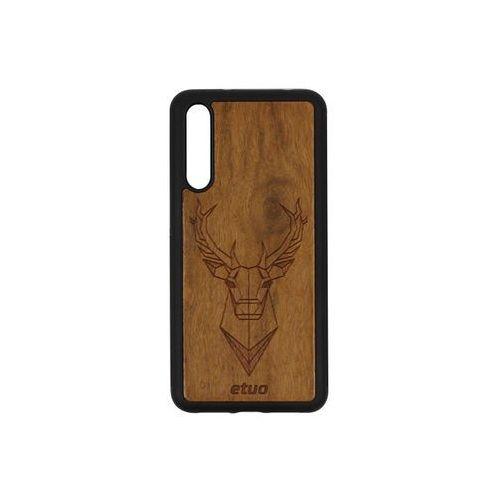 Huawei P20 Pro - etui na telefon Wood Case - Jeleń - imbuia, ETHW676WOODJEI000