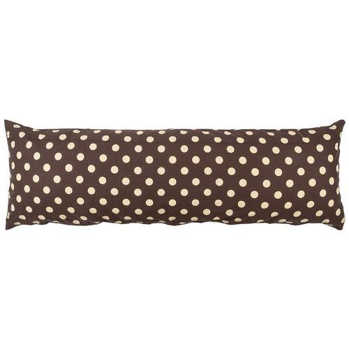 poszewka na poduszkę relaksacyjną mąż zastępczy kropka czekolada, 50 x 150 cm marki 4home