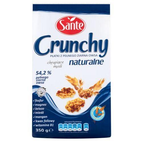 crunchy naturalne płatki z pełnego ziarna owsa 350 g marki Sante
