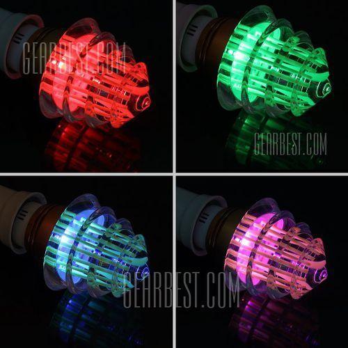 E27 Christmas Tree RGB LED Light Bulb with 24 Key Remote Controller 3W AC 85 - 265V