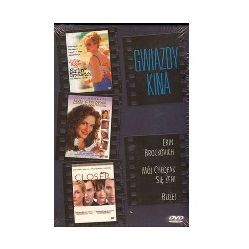Gwiazdy kina: Julia Roberts - Erin Brockovich, Mój chłopak się żeni, Bliżej (3xDVD) - P.J. Hogan, Mike Nichols, Steven Soderbergh
