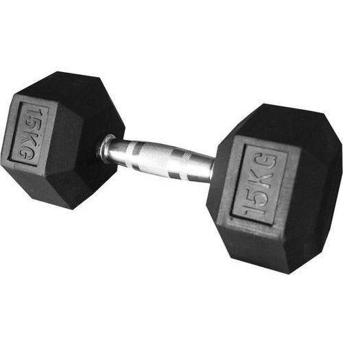 Stayer-sport Hantla gumowana stała hex 15kg stayer sport - 15 kg (5907692009012)
