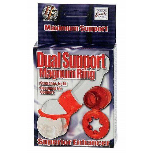 Żelowy pierścień erekcji na penisa i jądra dual support magnum ring 2146011 marki California exotic nov.