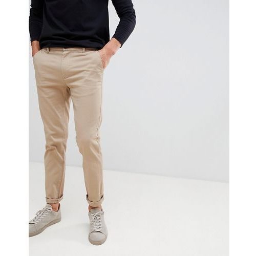 Burton menswear skinny fit chinos in tan - tan