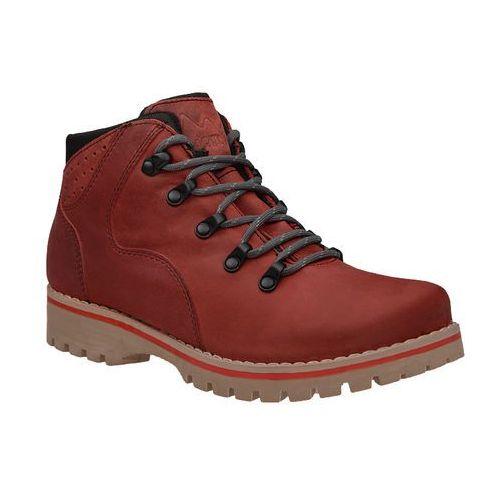 Veronii Trzewiki trekkingowe kornecki 5264 ocieplane czerwone - czerwony