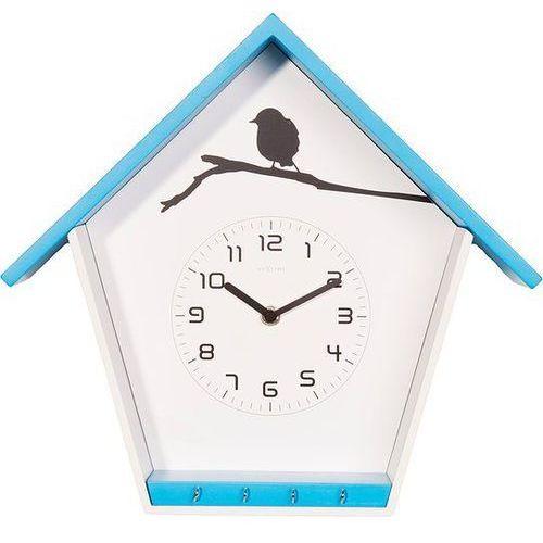 Zegar ścienny Cuckey niebieski, kolor niebieski