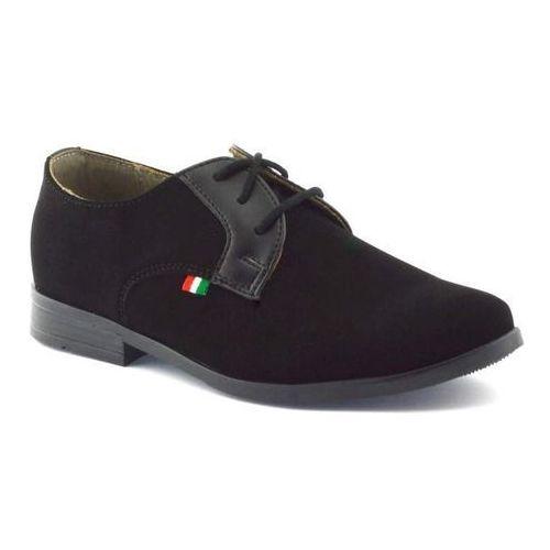 Kornecki Czarne buty komunijne dla dzieci 06120 - czarny