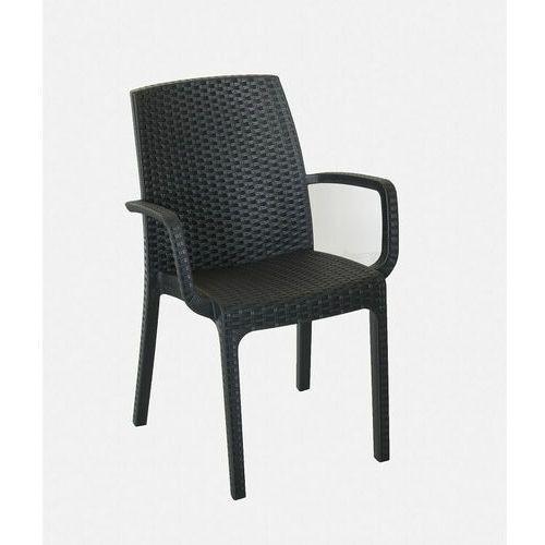 Krzesło technorattanowe Indiana antracytowe