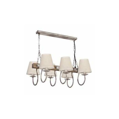 Luminex Lampa wisząca carin 6xe14/60w/230v szara (5907565986990)