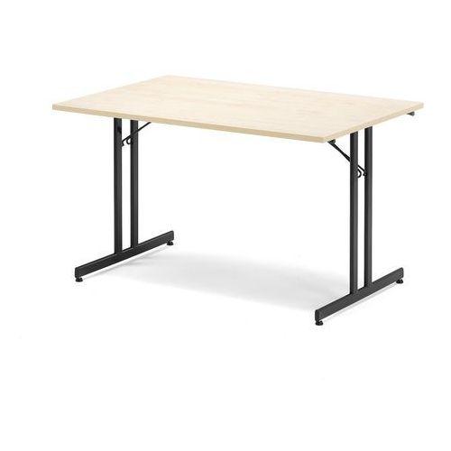 Stół konferencyjny EMILY, składany, 1200x800x720 mm, brzoza, czarny, 143422