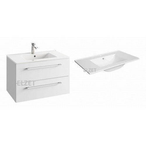 DEFRA szafka Trento D80 biały połysk + umywalka Plan 80 124-D-08004+1724, 124-D-08004.1724