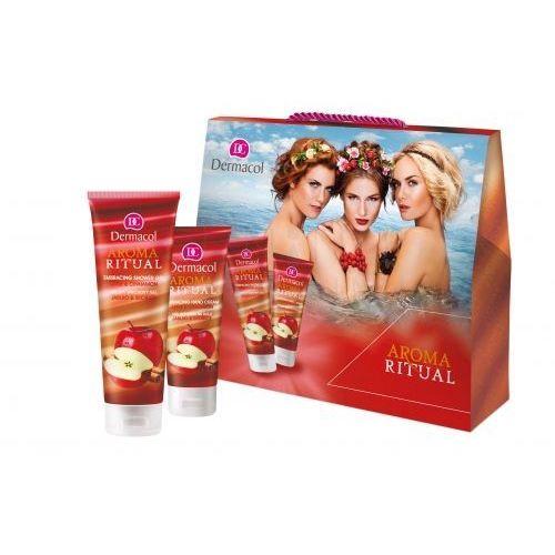 Dermacol aroma ritual apple & cinnamon zestaw żel pod prysznic 250 ml + krem do rąk 100 ml dla kobiet (8590031104638)