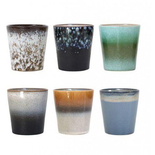 Hk living Zestaw kubeczków ceramicznych 70's -