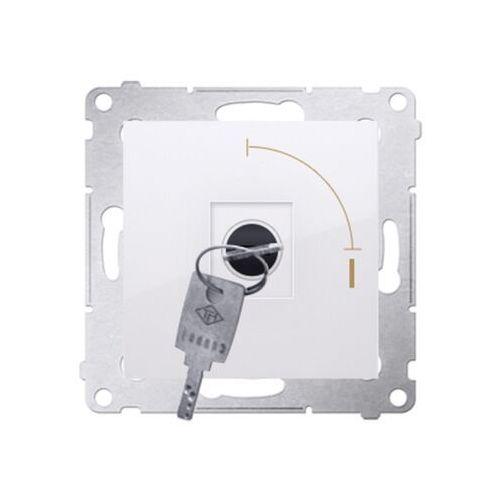 Łącznik jednobiegunowy Kontakt-Simon Simon 54 DW1K.01/11 na kluczyk dwupozycyjny 0-1 biały (5902787828646)