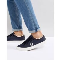 Fred Perry Kendrick Tipped Cuff Leather Trainers In Navy - Navy, kolor szary
