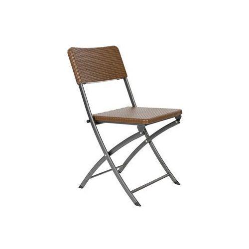 Krzesło cateringowe brązowe składane marki Edomator.pl